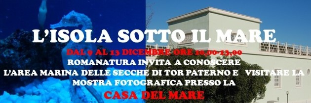 9 -13  dicembre: L'Isola sotto il Mare: Le Secche di Tor Paterno  Ostia. Casa del Mare
