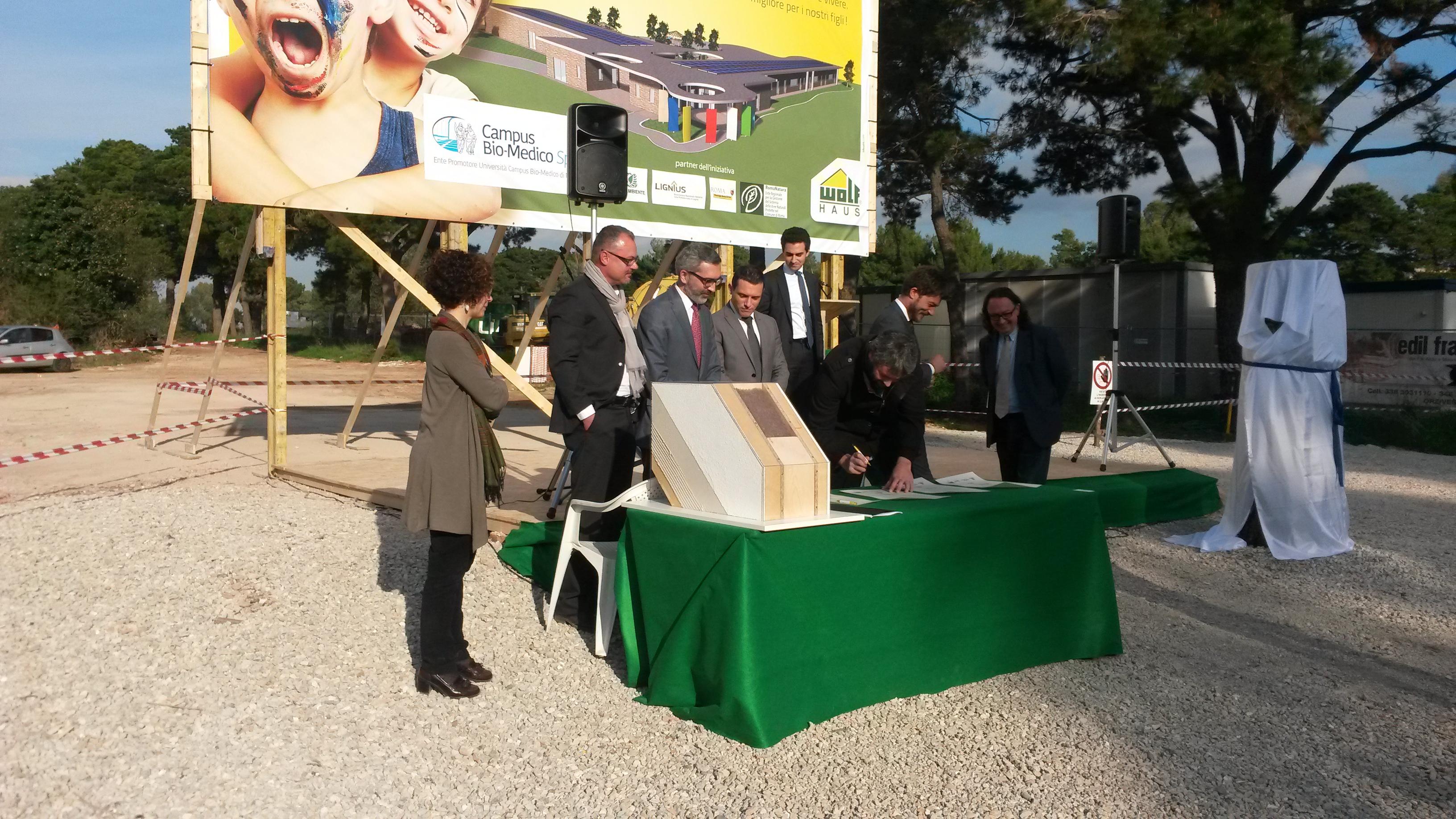 """Trigoria: nuovo Asilo Nido del Campus Bio-Medico di Roma e firmata la """"Carta dell'eco-sostenibilità per l'edilizia scolastica"""""""