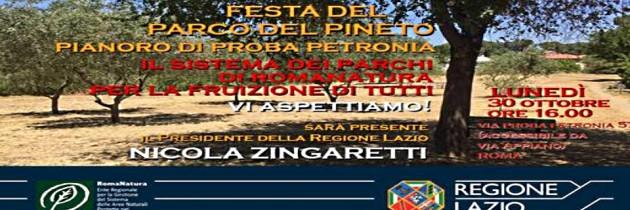 30 OTTOBRE Festa del Parco di Proba Petronia
